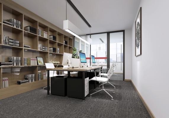 现代公共开敞式办公区