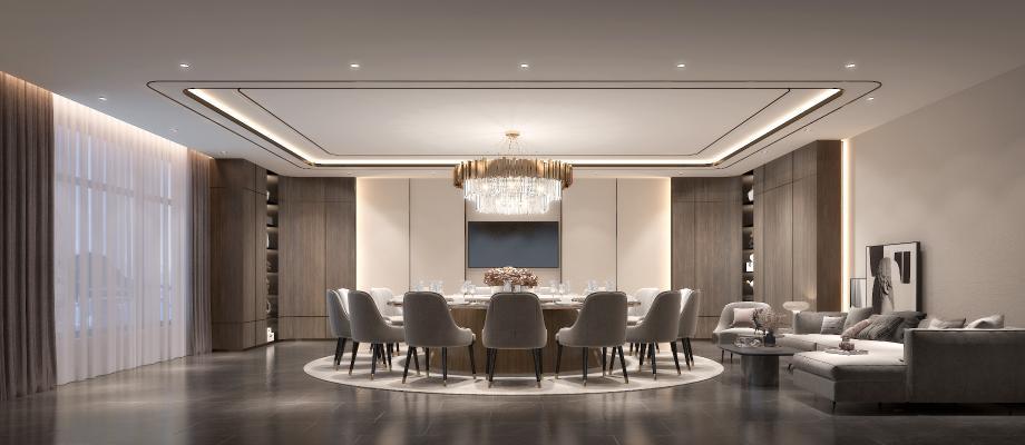 新中式餐厅包房 酒店包房