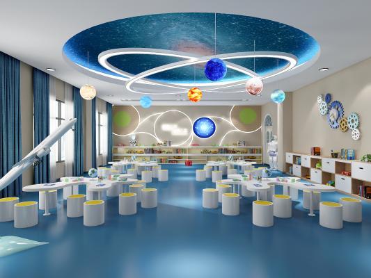 现代风格幼儿园科教室