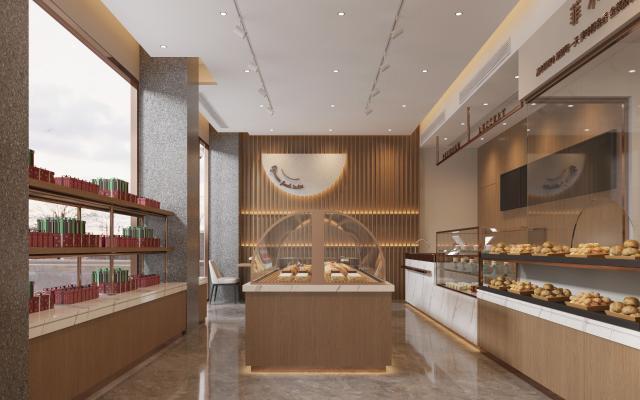 现代面包店 蛋糕店 挂画 货柜