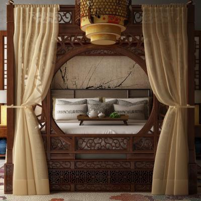 新中式床 �品