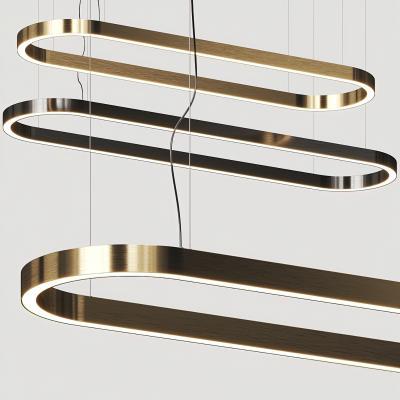 现代金属条形吊灯