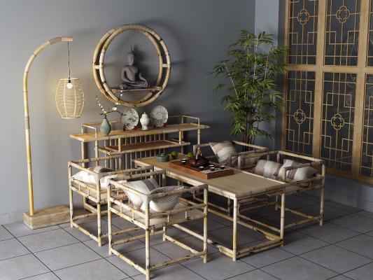 东南亚茶桌椅