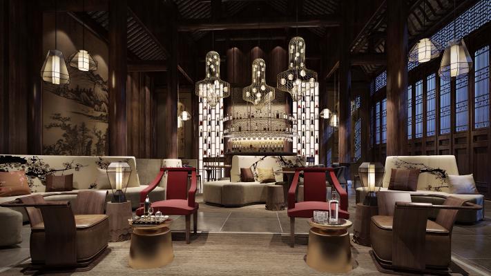 新中式酒吧 休闲区