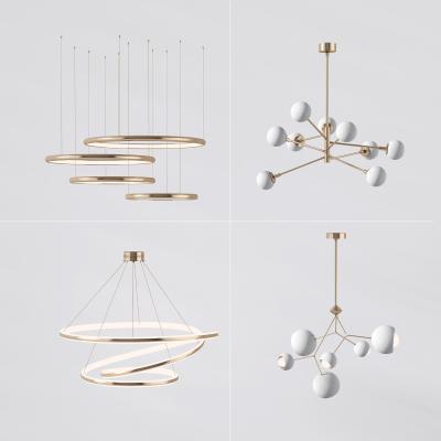 現代金属环形球形吊灯