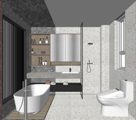 现代淋浴间 卫生间