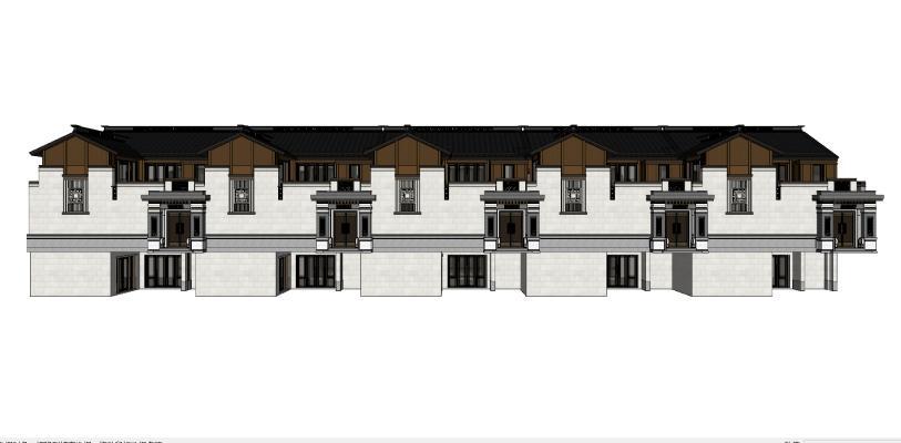 中式古建筑 商业街