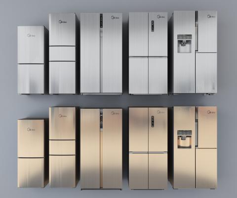 现代风格冰箱冰柜 双门冰箱 变频冰箱 智能冰箱