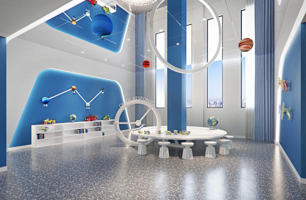 现代幼儿园 科技室