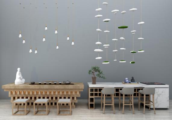 现代茶桌椅组合