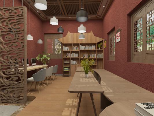 新中式博物馆 阅览区