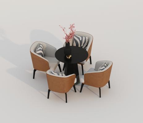新中式餐桌椅 洽谈桌椅