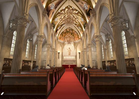 欧式教堂 礼堂