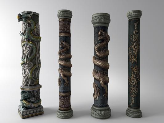 中式柱子组合