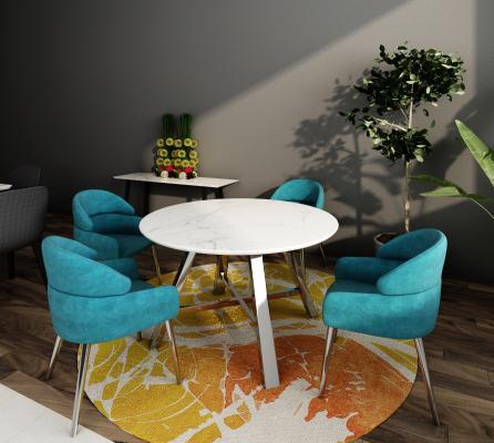 現代輕奢餐桌椅