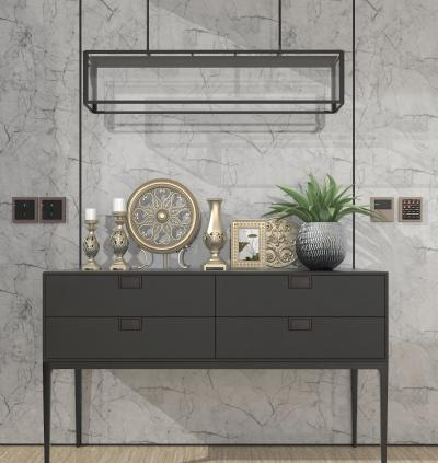 歐式古典櫥柜 燭臺