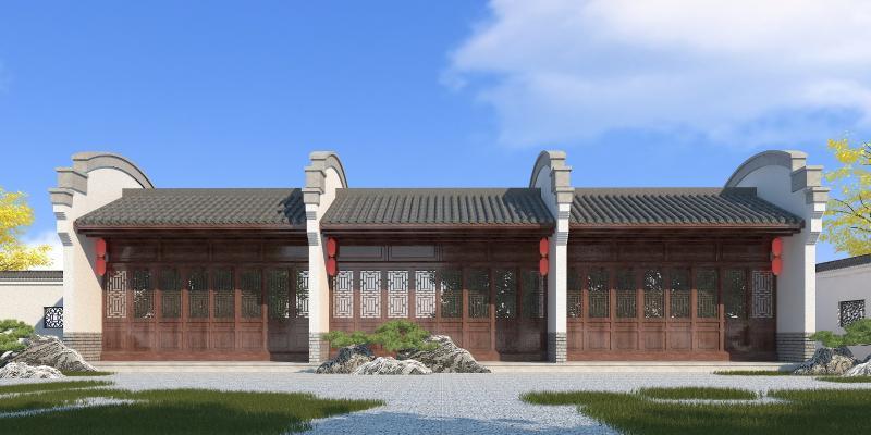 中式商业建筑外观