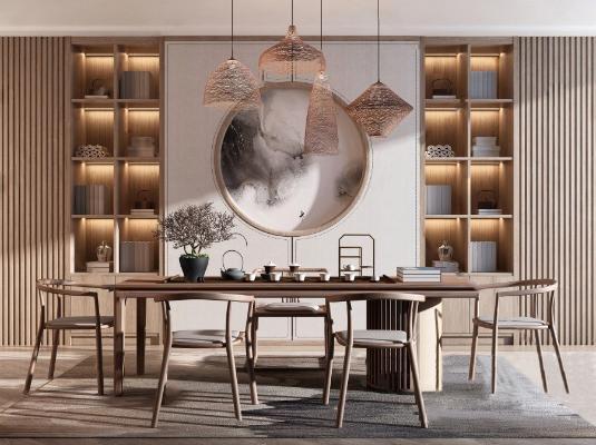 新中式茶▲桌椅