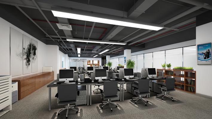 现代简约开敞办公区