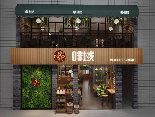 现代咖啡店 门头