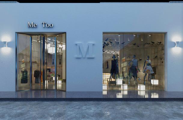 現代服裝商店 門頭裝飾