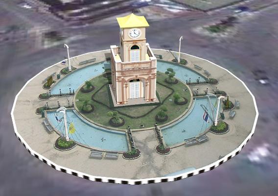 欧式钟楼建筑