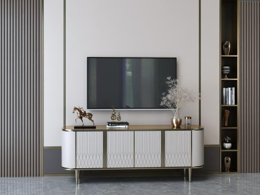 现代轻奢电视柜 摆件