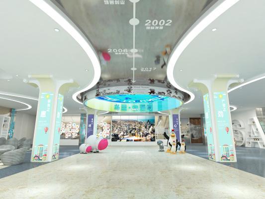 现代商业空间 动漫城大厅