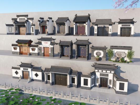 新中式大门 庭院门
