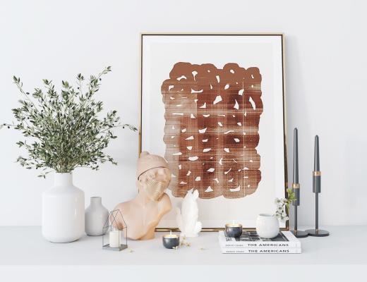 现代风格摆件组合 花瓶