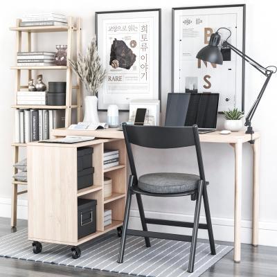 现代书桌椅组合 笔记本