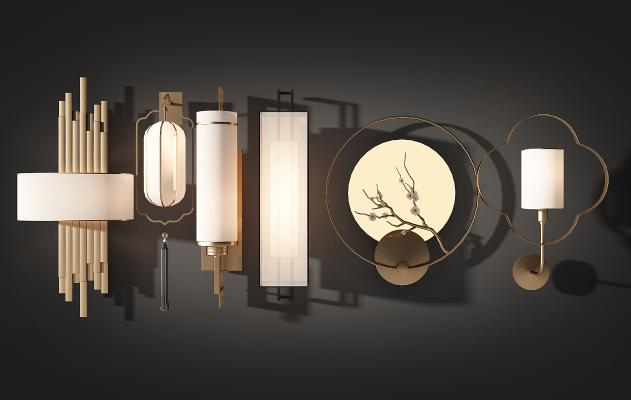 新中式壁灯 台灯 吊灯