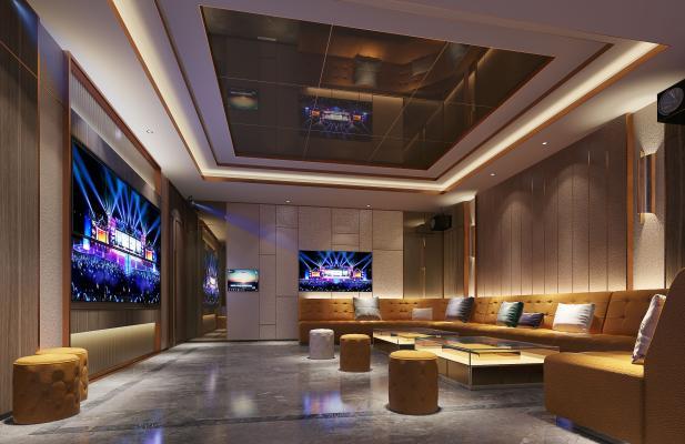 现代KTV 包房 沙发