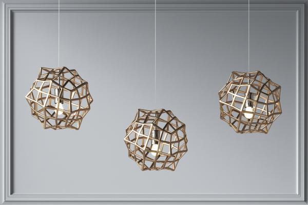 現代金屬網格球小吊燈組合 創意吊燈 家裝吊燈