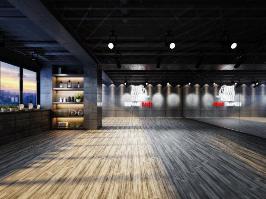 工业风舞蹈室 前台 休息室