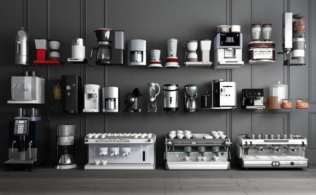现代自动咖啡机饮料机 智能咖啡机 智能饮料机