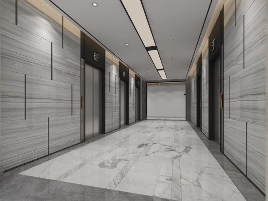 现代电梯厅 走廊