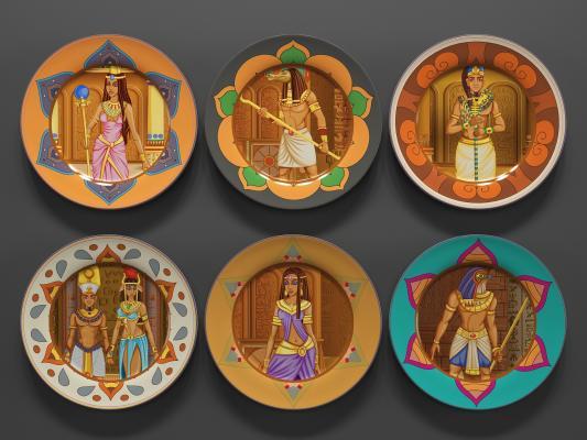 现代盘子装饰