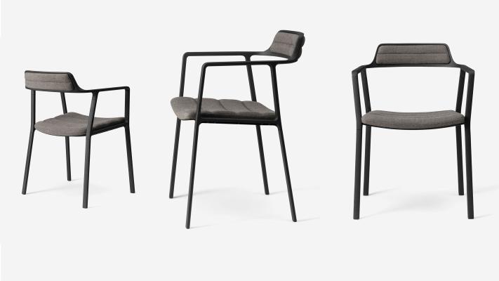 现代扶手餐椅