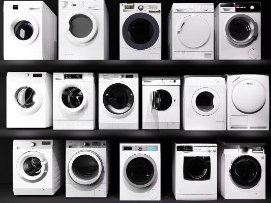 现代家电洗衣机 烘干机