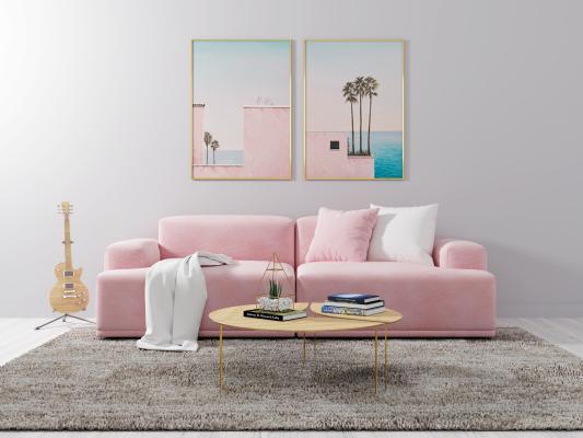 北欧风格沙发茶几 组合沙发