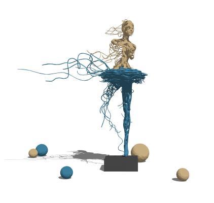 现代雕塑摆件组合