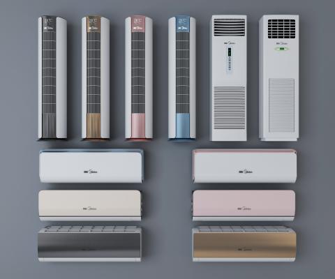 现代风格空调风扇 挂式空调 立式空调