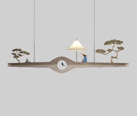 新中式禅意吊灯