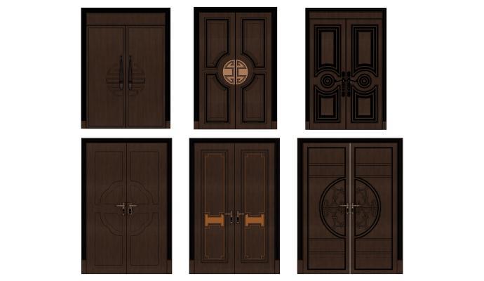 新中式风格双开门