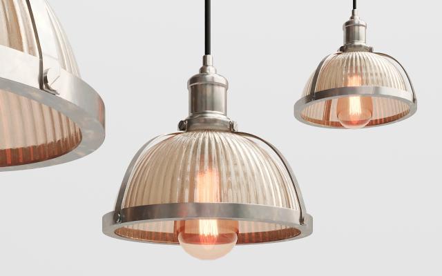 现代金属玻璃吊灯