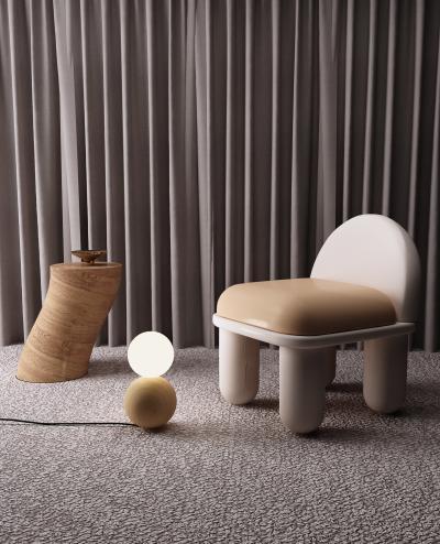 现代儿童椅组合 落地灯