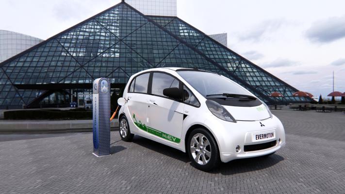 现代小型电动汽车 充电桩