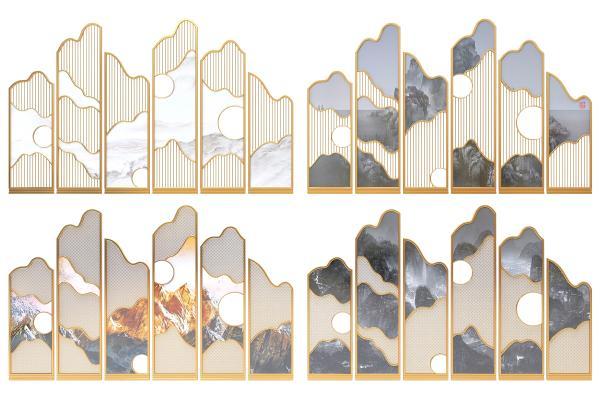 现代风格屏风,隔断,玄关,墙饰,装饰