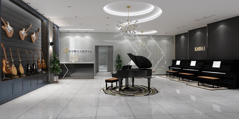 现代音乐培训中心 展厅